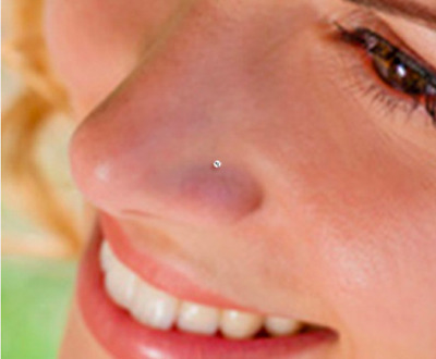 20g Nose Piercing Stud Sterling Silver Tiny Bobble Ball 6mm Ring