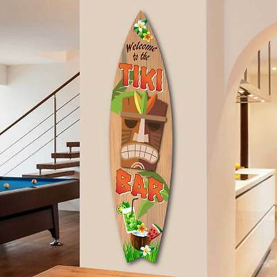 LED Home Bar Sign Man Cave Sign Surfboard Shaped Sign Light Up TIKI BAR SIGN