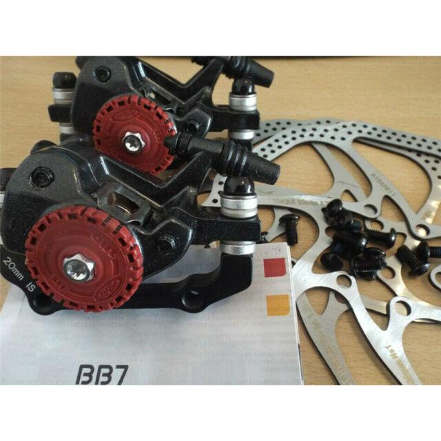 HS1 Disc Brake Sets Bike Kit Mountain Bicycle Mechanical Front Rear 160mm BB5