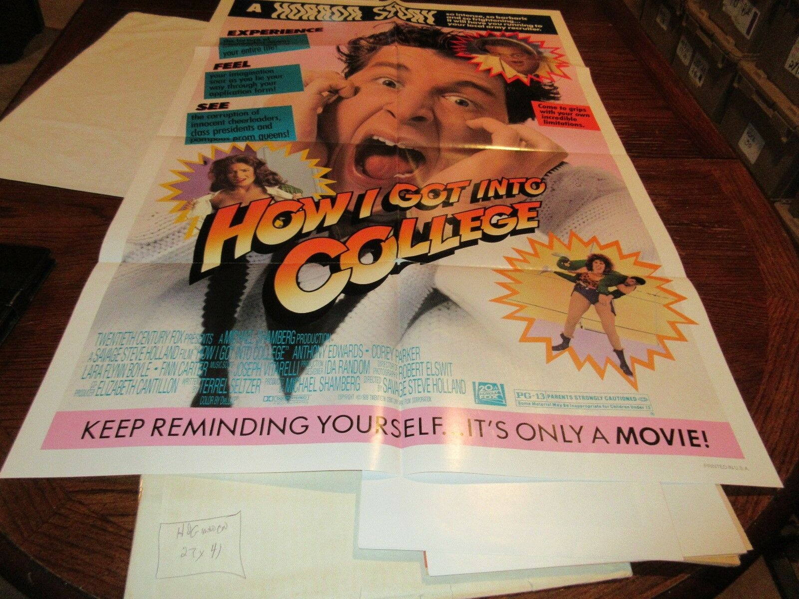 "How I Got Into College , Movie Poster , 41"" X 27"" , 20t"