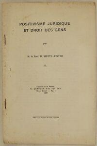 SIOTTO-PINTOR-POSITIVISME-JURIDIQUE-ET-DROIT-DES-GENS-POSITIVISMO-DIRITTO-1937