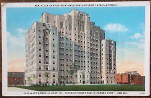 Details about 1930 Chicago, IL Postcard: Northwestern University Med  School/Passavant Hospital