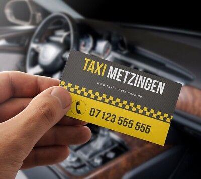 Premium Taxi Visitenkarten Mit Online Designer Selber Gestalten Ebay