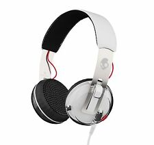 Skullcandy Grind On-Ear Headphones with Built-In Mic and Remote, White/clear