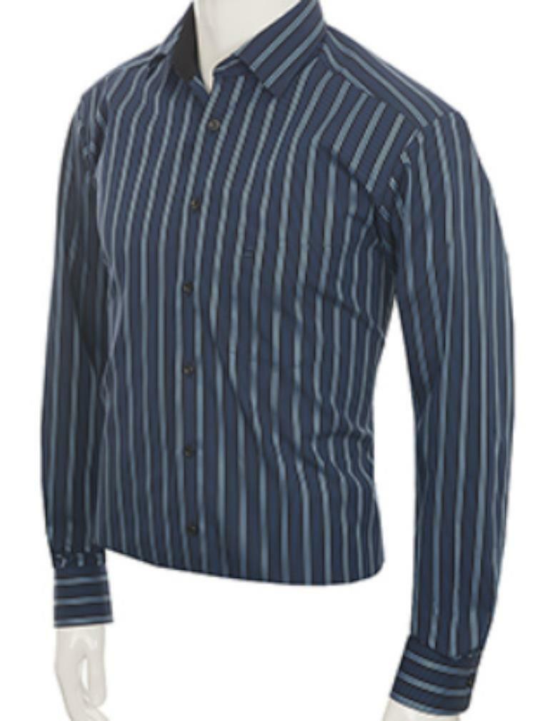 Royal Mix Bold Stripe Spread Collar