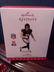 2017-Hallmark-Keepsake-Ornament-NFL-J-J-Watt-Houston-Texans-Brand-New