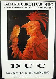 Antoine Duke (1932) December 1996 Galerie Christi Couderc Poster Display