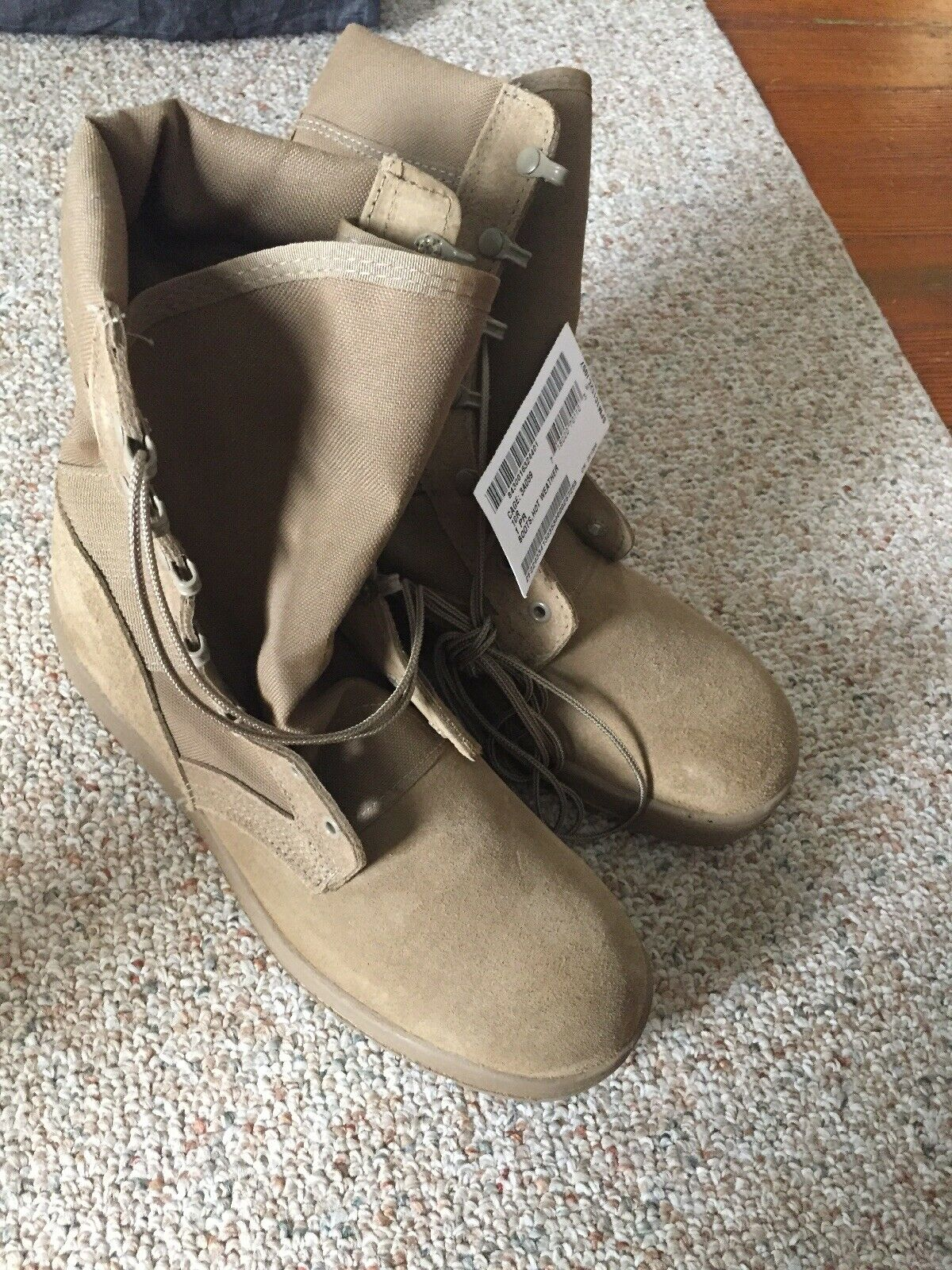 US Army Coyote Summer Boots Size 10R