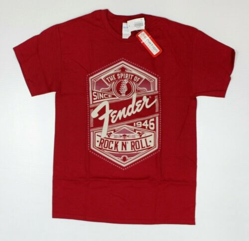 Fender Guitar Since 1946 Spirit Of Rock N Roll Red T-Shirt New! 3G4