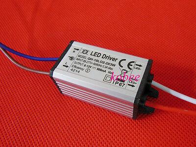 10W Power Supply LED Driver 350mA 900mA For High Power LED Light Lamp 85-265V