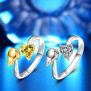 WOMEN-OPENING-FINGER-RING-ANGEL-WING-LOVE-HEART-INLAID-ENGAGEMENT-JEWELRY-GIFT