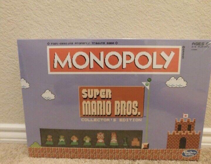 Neu in der box hasbro super mario bros. collector 's edition monopoly - spiel
