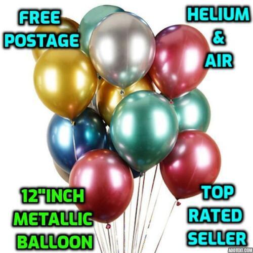 "12/"" inch PEARL Metallic BALLOONS air /&  helium BALOONS Birthday Wedding"