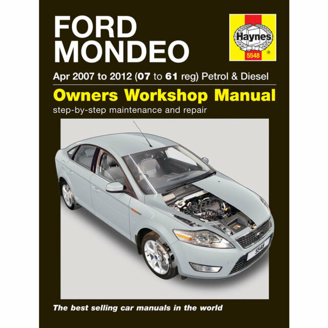 haynes manual 5548 ford mondeo 2007 2012 petrol diesel mint ebay rh ebay co uk ford mondeo 2007 workshop manual download ford mondeo 2007 workshop manual download