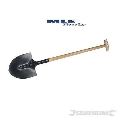 SIlverline Round Mouth Spade wooden shaft construction Gardening Trench 633966