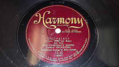 HOT JAZZ 78 - JOE FRIEDMAN'S MONTE CARLO ORCH Harmony 11-H Collegiate/Night Like