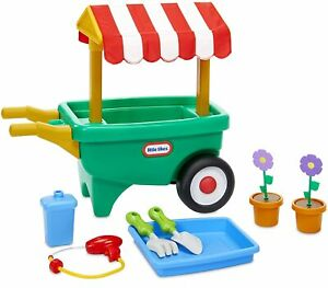 Little-Tikes-2-en-1-herramientas-de-jardin-Carro-Carretilla-Jardin-Jardineria-Juguete-Juegp