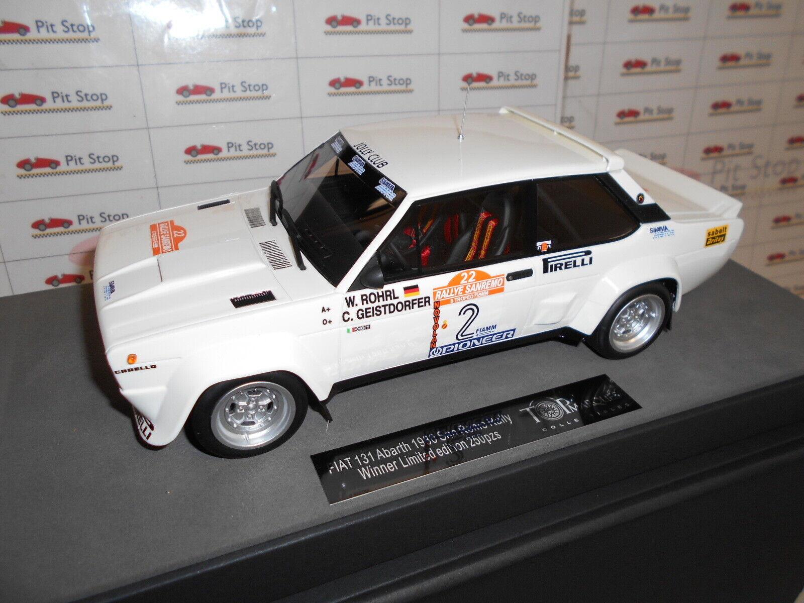 TOP043D FIAT 131 ABARTH ROHRL-GEISTDORFER ROHRL-GEISTDORFER ROHRL-GEISTDORFER WINNER SANREMO 1980 1 18 29cf83