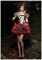 SEXY DELUXE QUEEN OF HEARTS ALICE IN WONDERLAND FANCY DRESS 6 8 10 12 14