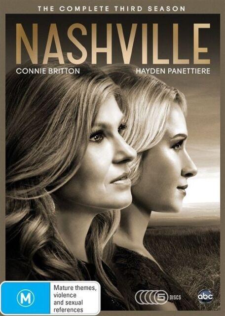 Nashville - The Complete Third Season (3 Disc Set) DVD **LIKE NEW** (Region 4)