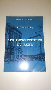 Hubert-Juin-Les-incertitudes-du-reel-Sodi-1968-carte-hommage-de-l-039-auteur