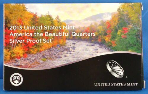 5 Deep Cameos Mint Box /& COA 2013-S Silver America the Beautiful Mint Proof Set