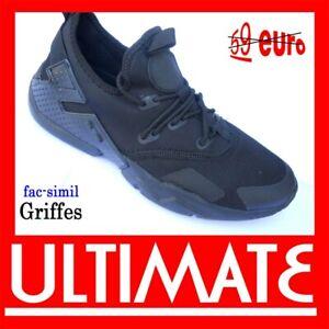 Scarpe UOMO da ginnastica  sportive corsa casual  sneakers -50% nere