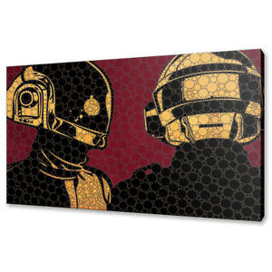 Daft Punk canvas print picture wall art modern design free fast delivery