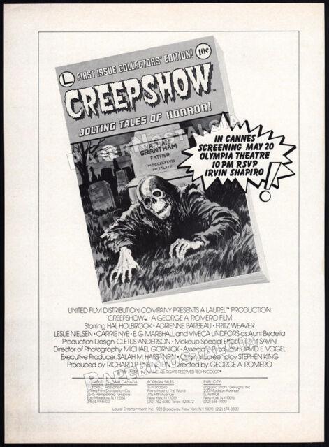 CREEPSHOW__Original 1982 Trade AD / screening promo__GEORGE ROMERO__STEPHEN KING