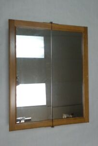 cb1269623de Sunco Medicine Cabinet Dual View Frame with Mirror DVM2430RT - Oak ...