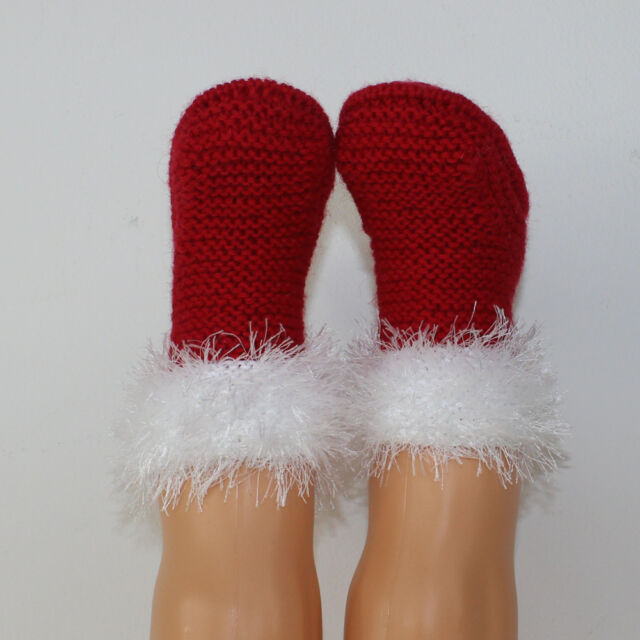 PRINTED INSTRUCTIONS-BABY SIMPLE CHRISTMAS BOOTIES BOOTEES KNITTING PATTERN