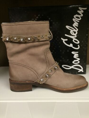 Sam Edelman Adele Women/'s Fashion Ankle Leather Boots Studded Booties Brown