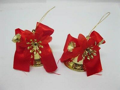 12Box X 2Pcs Bell Shaped Christmas Hanging Decoration Party Favor