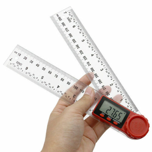 200//300mm LCD Digital 360° Angle Finder Ruler Protractors Gauge Measure Tools