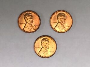 1952-P-D-S-3-BU-UNCIRCULATED-Lincoln-Wheat-Cent