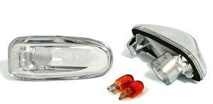 2-CLIGNOTANT-LATERAUX-MERCEDES-CLASSE-E-W210-200-200K-240-280-V6-CHROME-CRISTAL