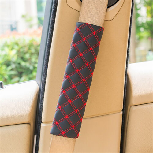 2Pcs Car Safety Seat Belt Shoulder Pads Cover Cushion Harness Pad Protector X TW