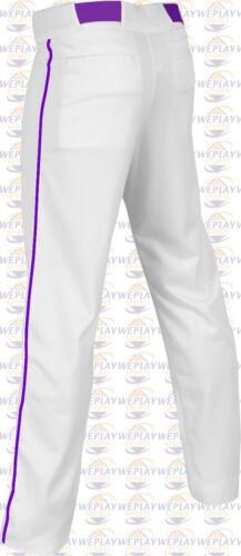 Champro Adult Mens Open Bottom Adjustable Baseball Pants W// Custom Piping Braid