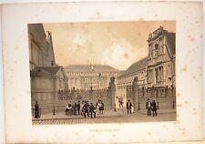 Stampa antica PARIGI PARIS Palais des Beaux-Arts 1861 Old antique print