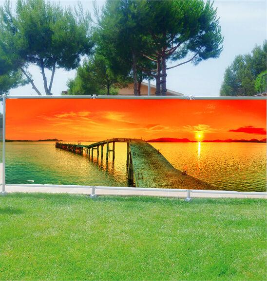 -schutz Ansicht Personnalisiert, Garten, Terrasse, Balkon Deko Liegend Sonnen-