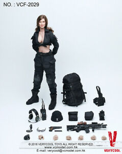 US-1-6-Very-Cool-Toys-VCF-2029-Female-Soldier-Shooter-Black-Version-12-034-Figure