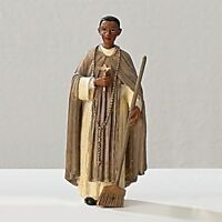 Statue St. Martin De Porres 3.5 Inch Painted Resin Saints In A Box Card Catholic