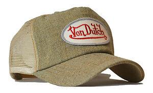 Von Van Dutch Mesh Trucker Base Cap Denim Sand Hut Kappe Mutze Hat