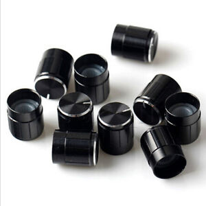 10 Volume Control Rotary Knobs Black for 6mm Dia. Knurled Shaft PotentiometRASK 601404062665