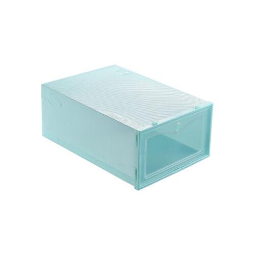 Shoe Box Transparent Foldable Drawer Type Storage Organizer Cabinet Rack Plastic