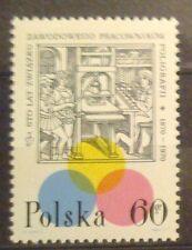 POLAND STAMPS MNH Fi1840 Sc1719 Mi1987 - Printing, 1970, clean