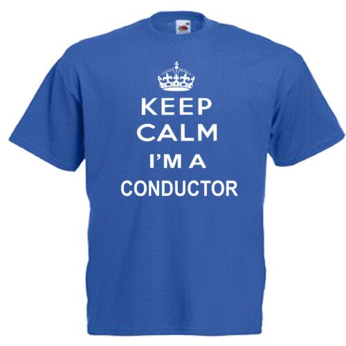 3XL Keep Calm conducteur Adultes Hommes T Shirt 12 Couleurs Taille S