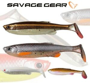 Savage-Gear-Fat-T-Tail-Minnow-3pcs-Soft-Plastic-Bait-Jig-Head-Lure-Fishing-Pike