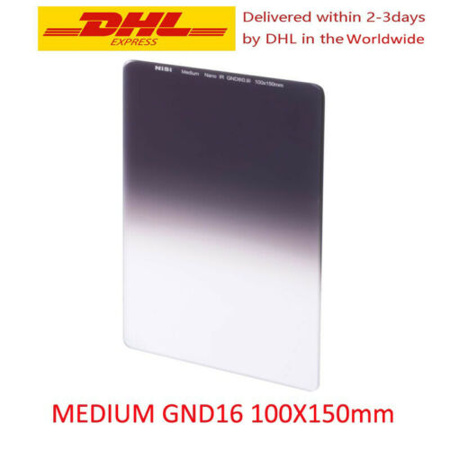 4 Stop 1.2 NiSi 100x150mm Medium Nano IR Graduated Neutral Density Filter ND16