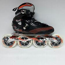 Fila M 110 black/orange Speedskate Marathon Inline Skates 110 mm Rollen Gr. 40,5